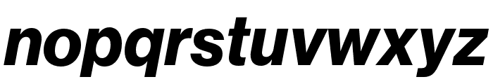 Neue Haas Grotesk Display Pro 76 Bold Italic Font LOWERCASE