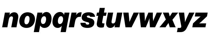 Neue Haas Grotesk Display Pro 96 Black Italic Font LOWERCASE