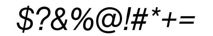 Neue Haas Grotesk Text Pro 66 Medium Italic Font OTHER CHARS