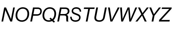 Neue Haas Grotesk Text Pro 66 Medium Italic Font UPPERCASE
