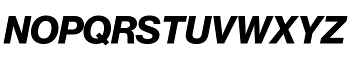 Neue Haas Grotesk Text Pro 76 Bold Italic Font UPPERCASE