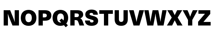 Neue Haas Unica W1G Black Font UPPERCASE