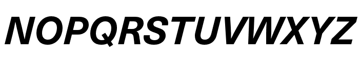 Neue Haas Unica W1G Bold Italic Font UPPERCASE