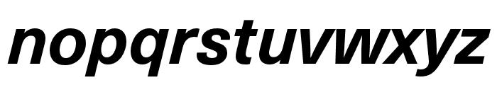 Neue Haas Unica W1G Bold Italic Font LOWERCASE