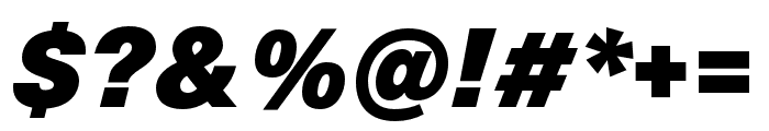 Neue Haas Unica W1G ExtraBlack Italic Font OTHER CHARS