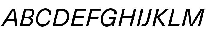 Neue Haas Unica W1G Italic Font UPPERCASE