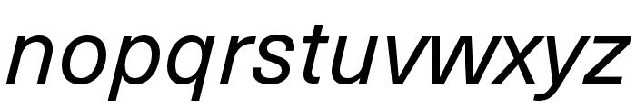 Neue Haas Unica W1G Italic Font LOWERCASE