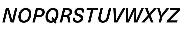 Neue Haas Unica W1G Medium Italic Font UPPERCASE