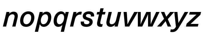 Neue Haas Unica W1G Medium Italic Font LOWERCASE