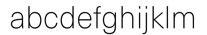 Neue Haas Unica W1G Thin Font LOWERCASE