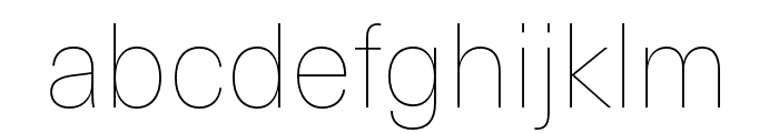 Neue Haas Unica W1G UltraLight Font LOWERCASE