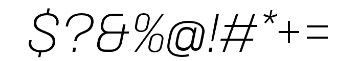 Neusa Next Std Condensed Light Italic Font OTHER CHARS