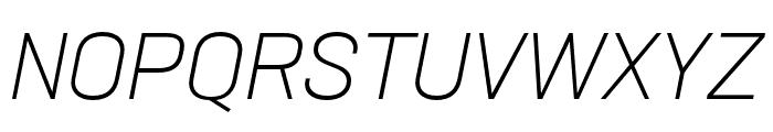 Neusa Next Std Condensed Light Italic Font UPPERCASE