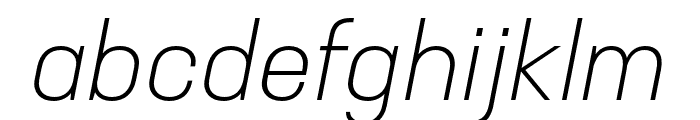 Neusa Next Std Condensed Light Italic Font LOWERCASE