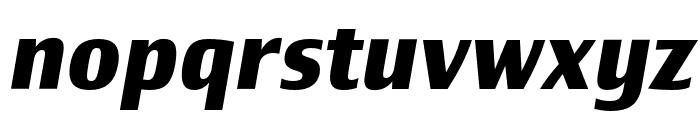 Newbery Sans Pro Bold It Font LOWERCASE