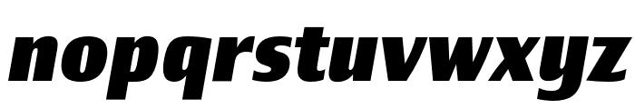 Newbery Sans Pro Cd ExtraBold It Font LOWERCASE