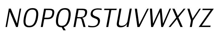 Newbery Sans Pro Cd Light It Font UPPERCASE