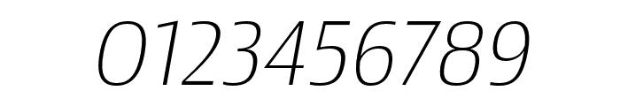 Newbery Sans Pro ExtraLight It Font OTHER CHARS