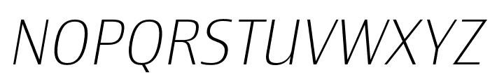 Newbery Sans Pro ExtraLight It Font UPPERCASE