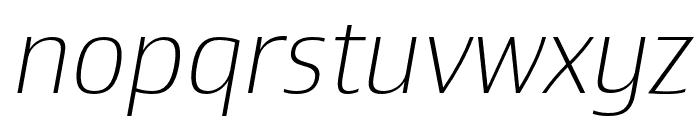Newbery Sans Pro Xp ExtraLight It Font LOWERCASE