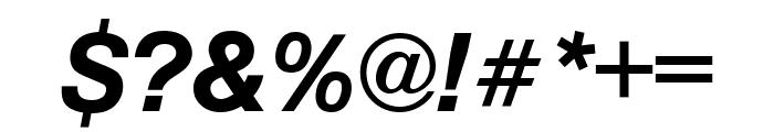 Nimbus Sans Cond L Bold Italic Font OTHER CHARS
