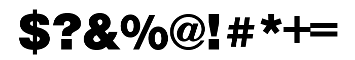 Nimbus Sans Extd Black Font OTHER CHARS