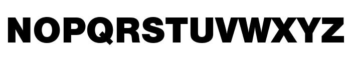 Nimbus Sans Outline Extd D Black Font UPPERCASE