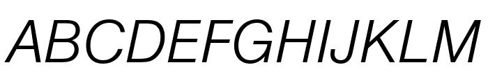 Nimbus Sans Round Light Italic Font UPPERCASE