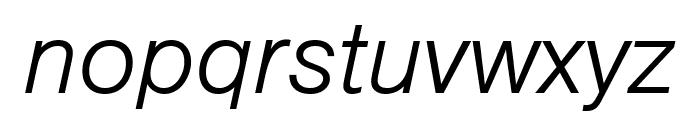 Nimbus Sans Round Light Italic Font LOWERCASE