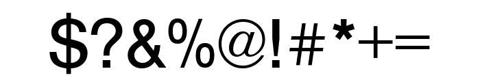 Nimbus Sans Round Regular Font OTHER CHARS