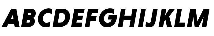 Niveau Grotesk Black Italic Font UPPERCASE