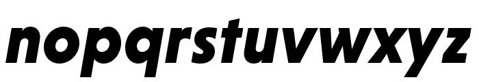 Niveau Grotesk Black Italic Font LOWERCASE