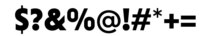 Niveau Grotesk Black Small Caps Font OTHER CHARS