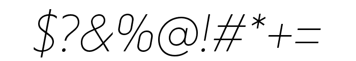 Niveau Grotesk ExtraLight Italic Font OTHER CHARS