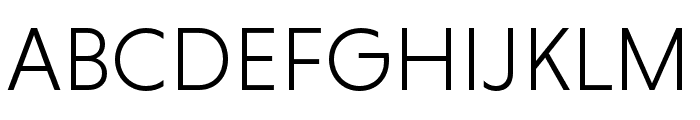 Niveau Grotesk Light Font UPPERCASE