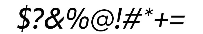 Niveau Grotesk Regular Italic Font OTHER CHARS