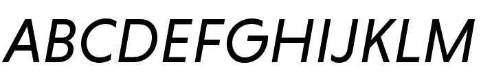 Niveau Grotesk Regular Italic Font UPPERCASE