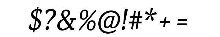 Noam Text Italic Font OTHER CHARS