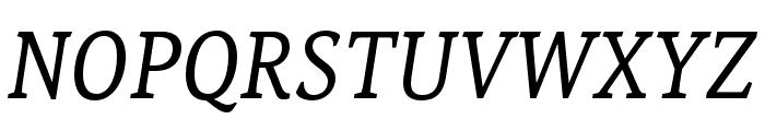 Noam Text Italic Font UPPERCASE