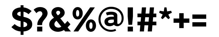 Nobel BoldCondensed Font OTHER CHARS