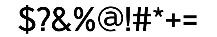Nobel RegularCondensed Font OTHER CHARS