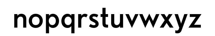 Nobel RegularCondensed Font LOWERCASE