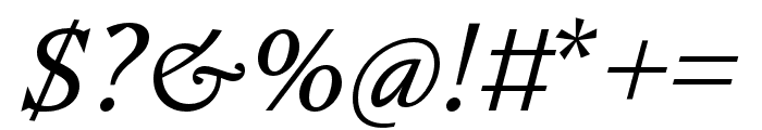 Nocturne Serif Light Italic Font OTHER CHARS