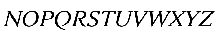 Nocturne Serif Light Italic Font UPPERCASE