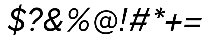 Nort Italic Font OTHER CHARS