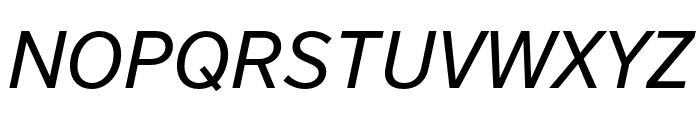 Nort Italic Font UPPERCASE
