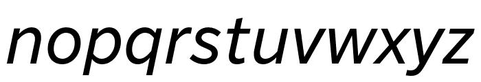 Nort Italic Font LOWERCASE