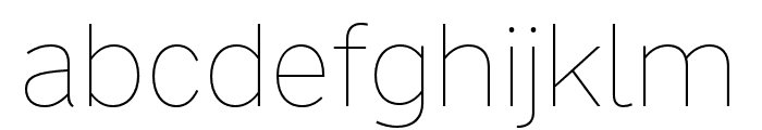 Nort Thin Font LOWERCASE