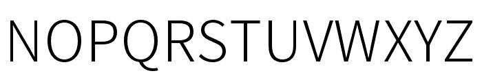 Noto Sans CJK KR Light Font UPPERCASE