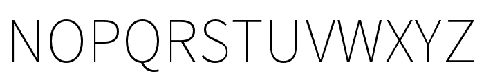 Noto Sans CJK KR Thin Font UPPERCASE